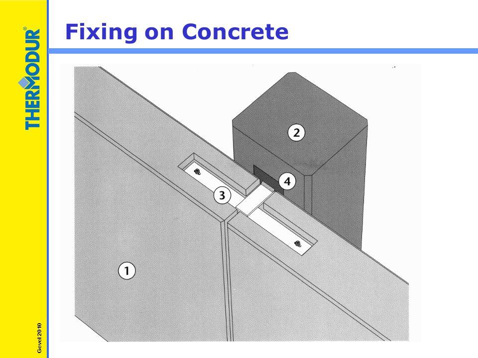Fixing on Concrete Gevel 2010