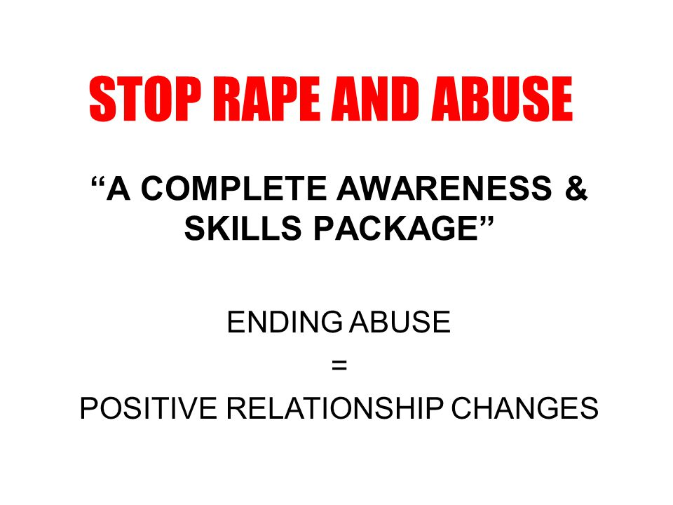 PACKAGE CONTENTS 1 DVD on Domestic Violence and Abuse 10 Titles on DVD – Healthy Relationship Skills 10 A3 laminated posters on Healthy Relationship Skills 8 A3 laminated posters on Rape, Woman and Child Abuse 10 A4 masters for hand-out notes 100 4 page Rape infolet 100 white silicone bracelets 100 white lapel pin ribbons