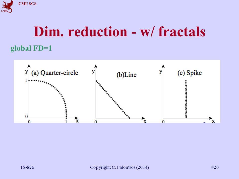 CMU SCS 15-826Copyright: C. Faloutsos (2014)#20 Dim. reduction - w/ fractals global FD=1