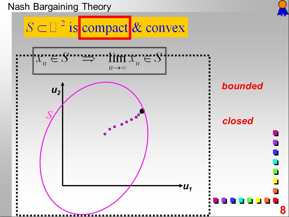 19 d For any given bargaining problem define = = Does such a point always exist ?.