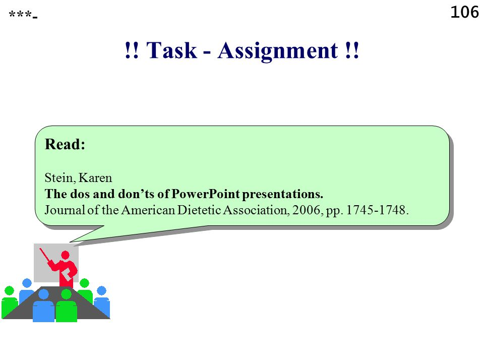 !! Task - Assignment !! Read the following article: Paradi, David When technology fails, be ready. Available from: http://www.presentations.com/presen