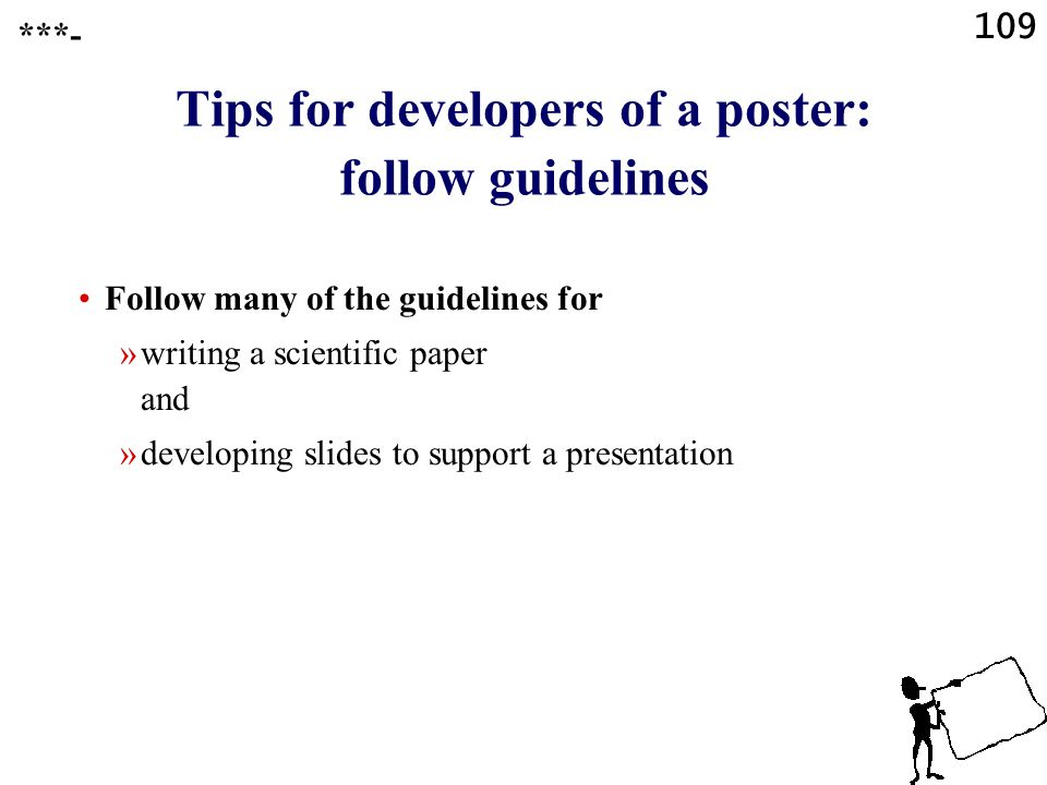 108 Presentation software Creating a scientific poster ***-