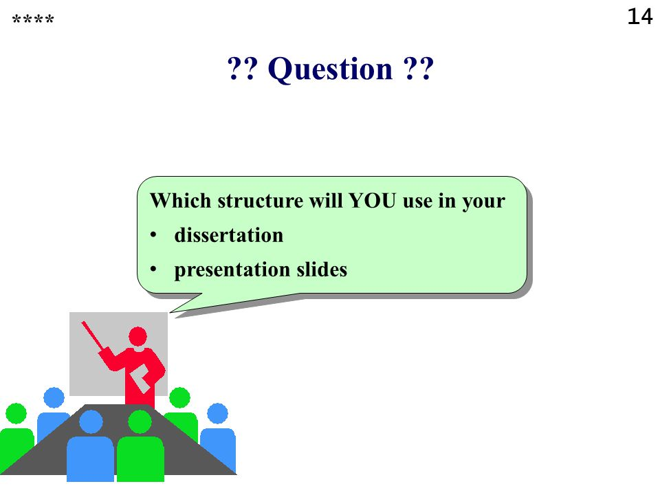 ?? Question ?? Which is the most common, classical structure of papers and presentations in a scientific environment? ANSWER: Introduction Problem sta