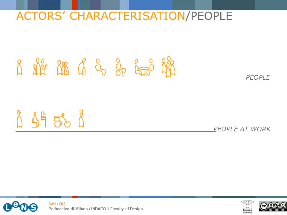 Dalt / DIS Politecnico di Milano / INDACO / Faculty of Design ACTORS' CHARACTERISATION/PEOPLE PEOPLE PEOPLE AT WORK