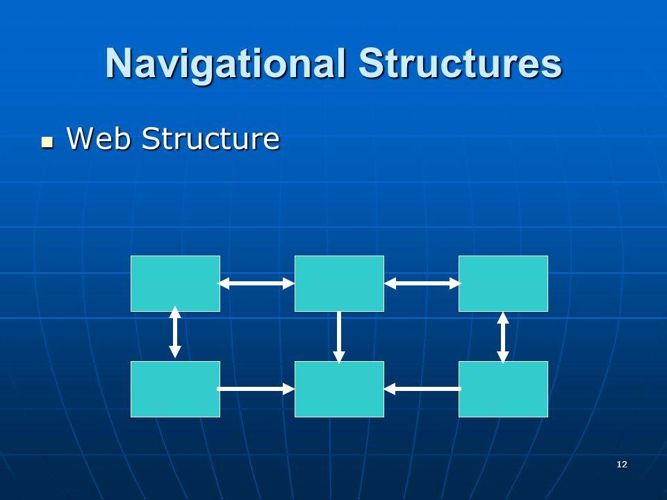 12 Navigational Structures Web Structure Web Structure