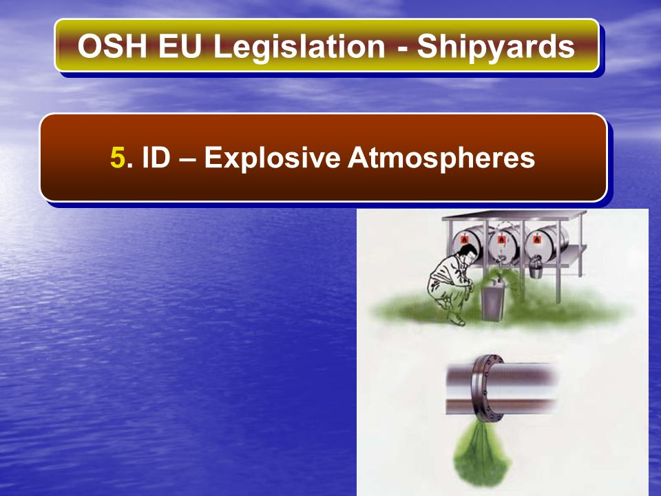 OSH EU Legislation - Shipyards 5. ID – Explosive Atmospheres