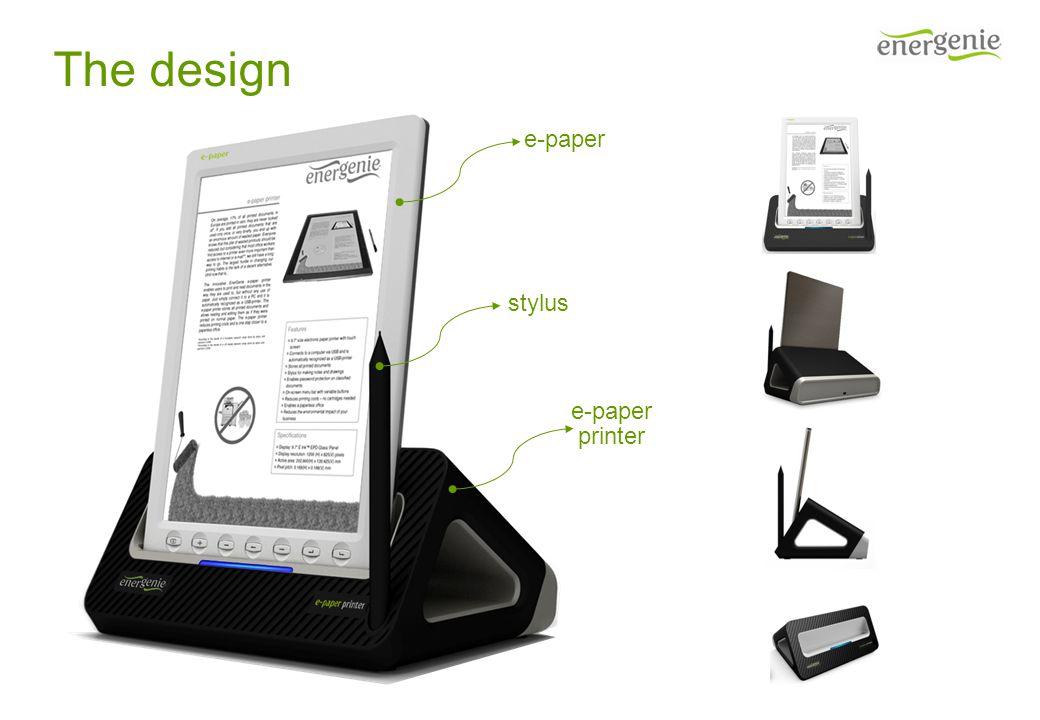 The design e-paper printer stylus
