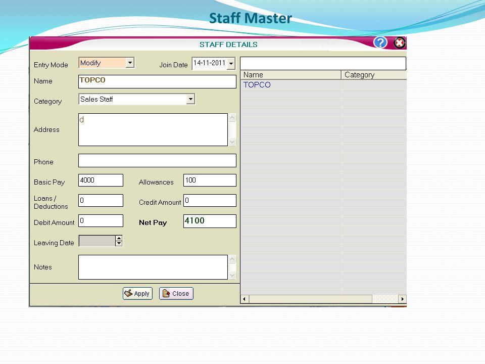 Staff Master