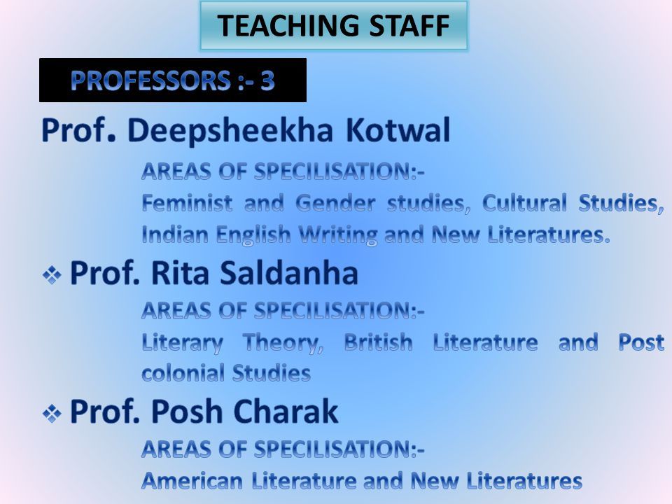TEACHING STAFF