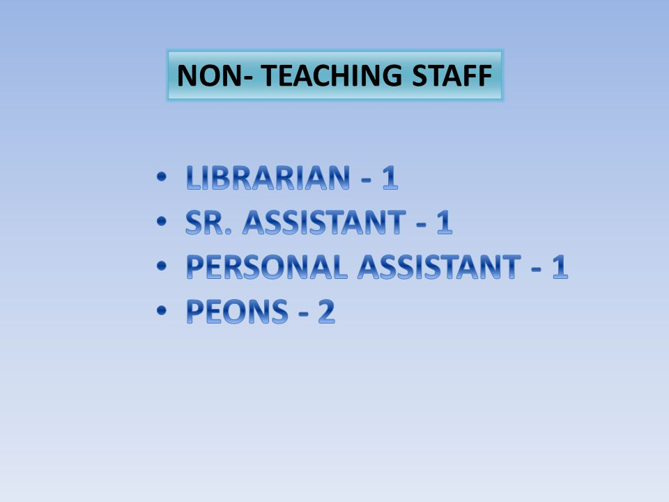 NON- TEACHING STAFF