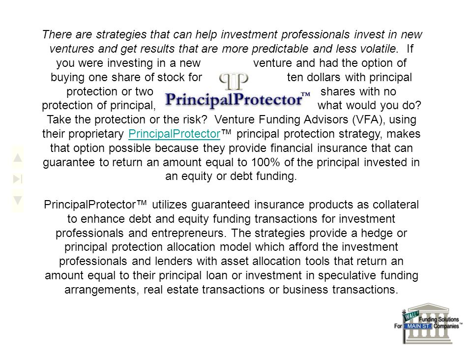 There are strategies that can help investment professionals invest in new ventures and get results that are more predictable and less volatile. If you
