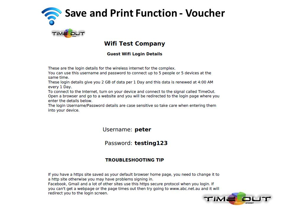 Save and Print Function - Voucher