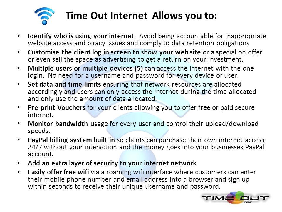 Time Out Internet Flexi Gateway Controller Time Out Internet Flexi Gateway Controller comes with gigabit LAN/WAN ports.