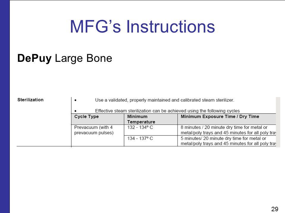 DePuy Large Bone MFG's Instructions 29