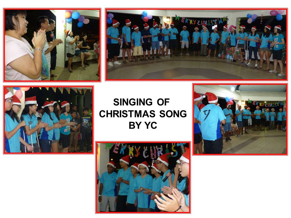 SINGING OF CHRISTMAS SONG BY YC