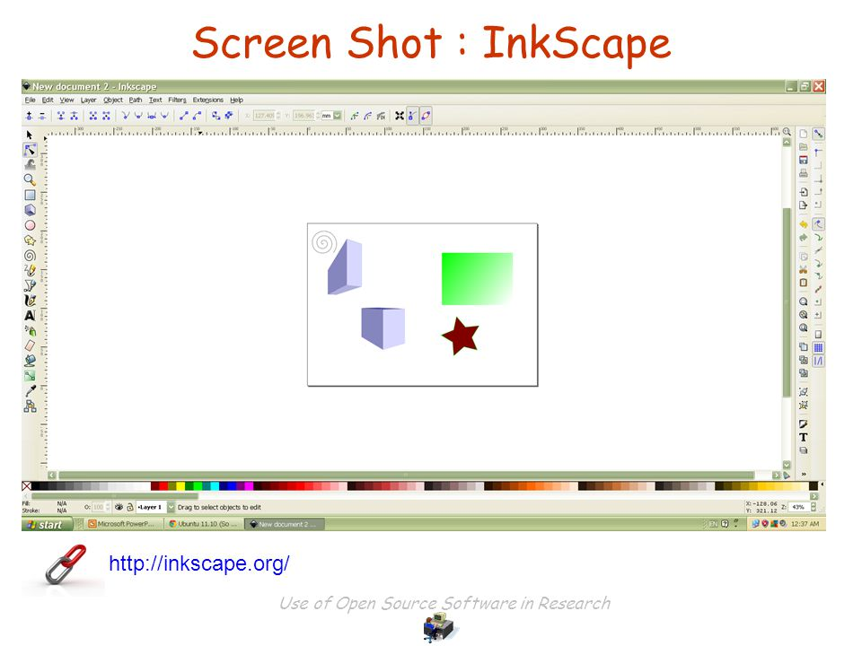 Use of Open Source Software in Research Screen Shot : InkScape http://inkscape.org/