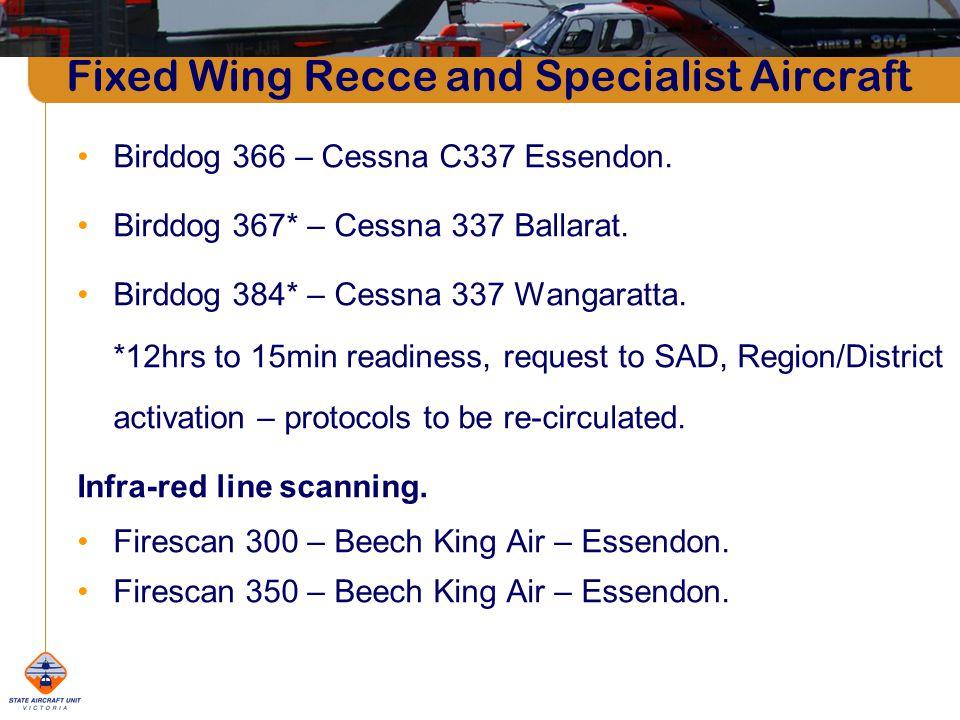 Fixed Wing Recce and Specialist Aircraft Birddog 366 – Cessna C337 Essendon.