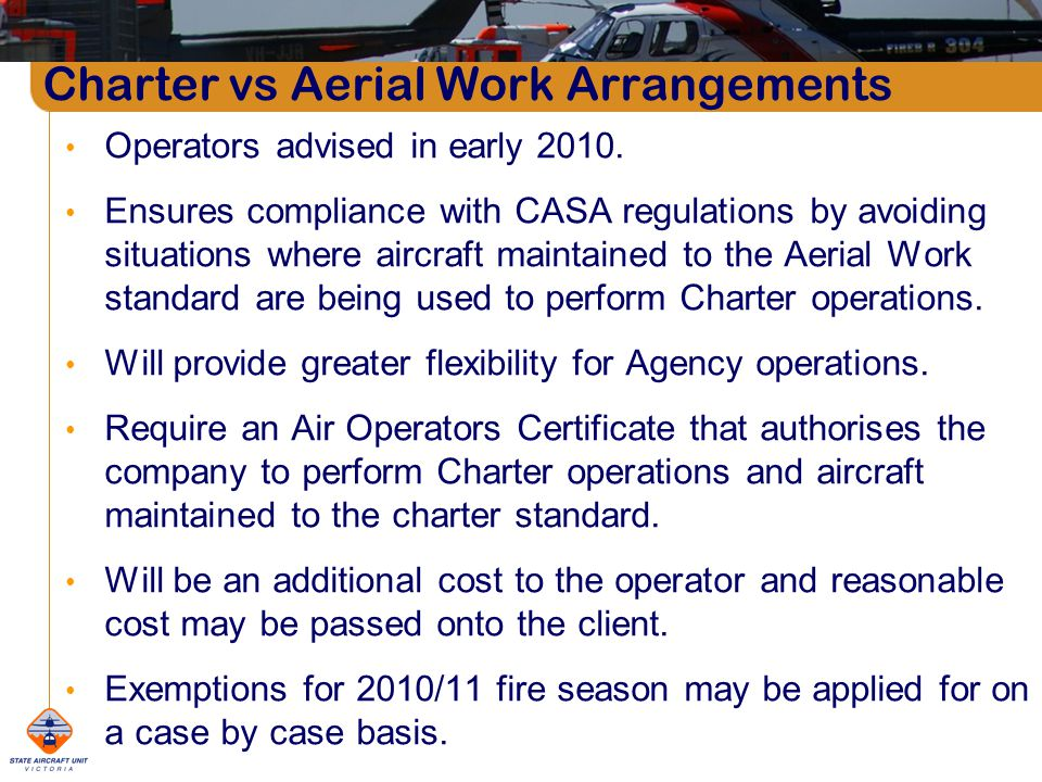 Operators advised in early 2010.