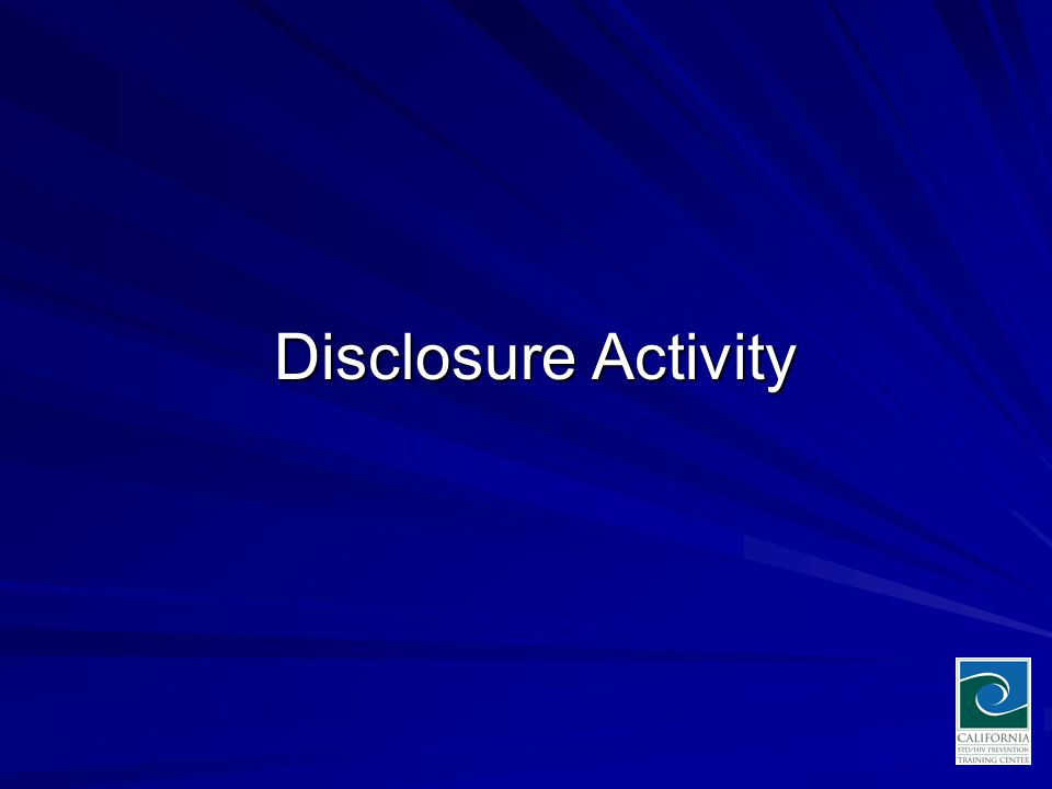Disclosure Activity