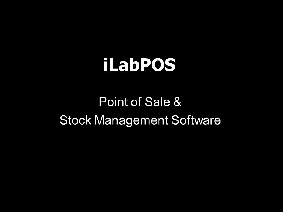 iLabPOS Point of Sale & Stock Management Software