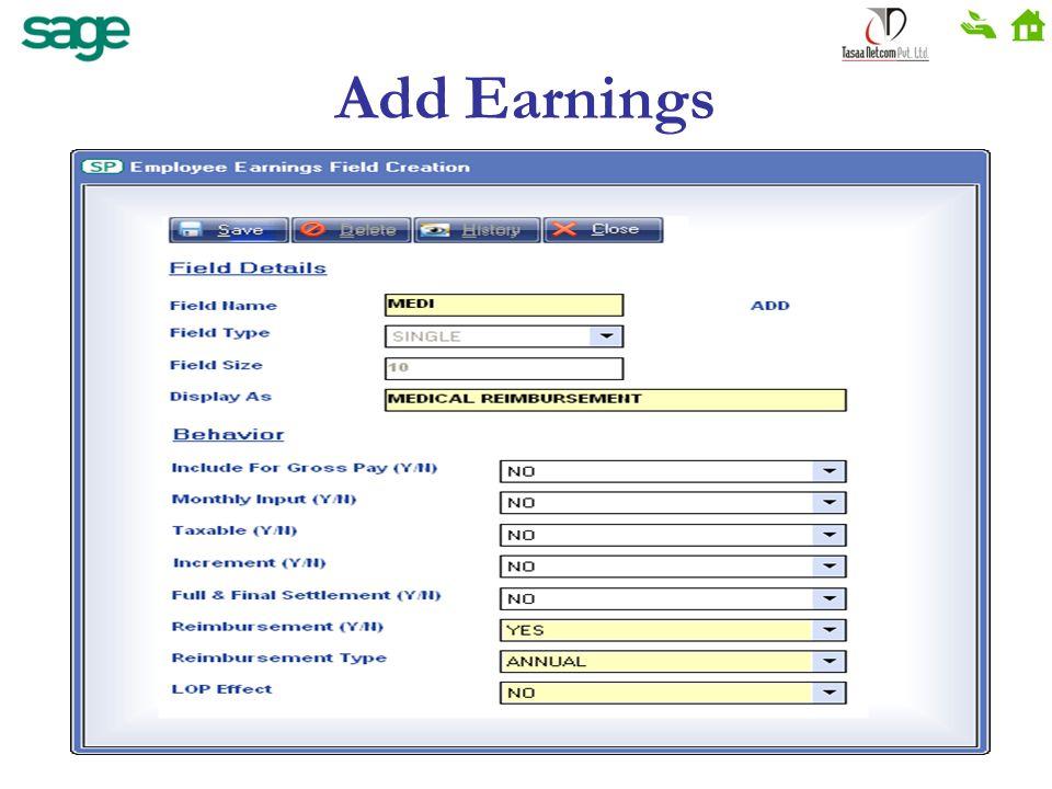 Add Earnings