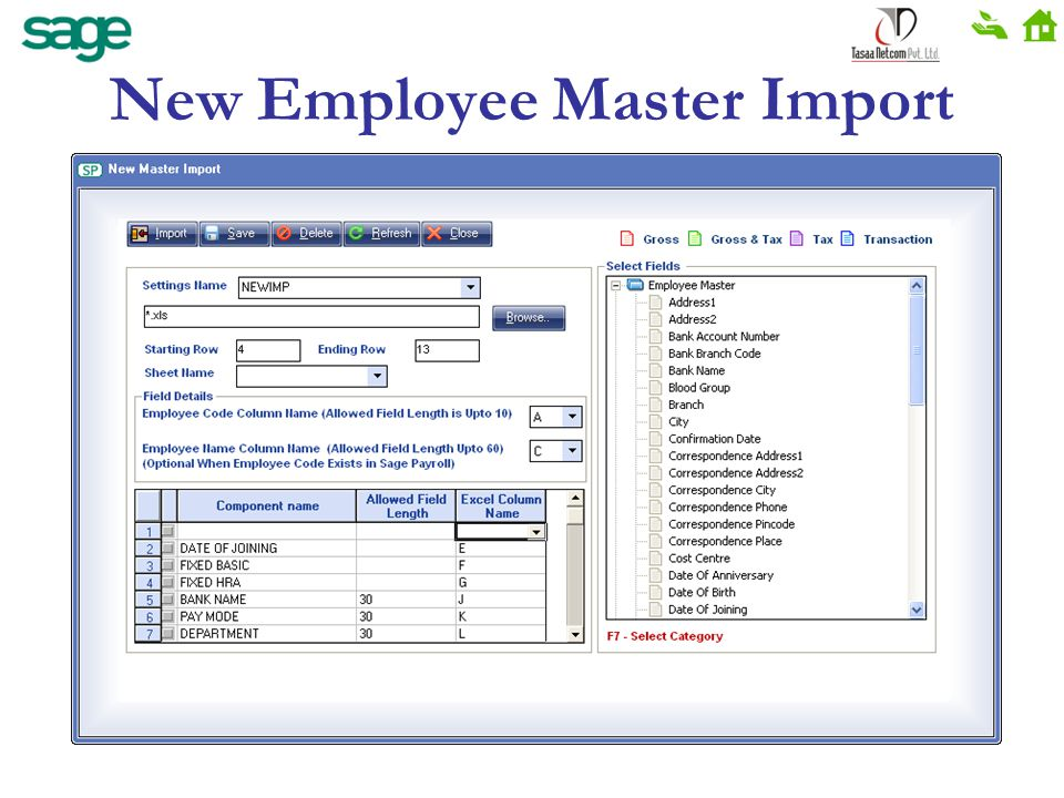 New Employee Master Import