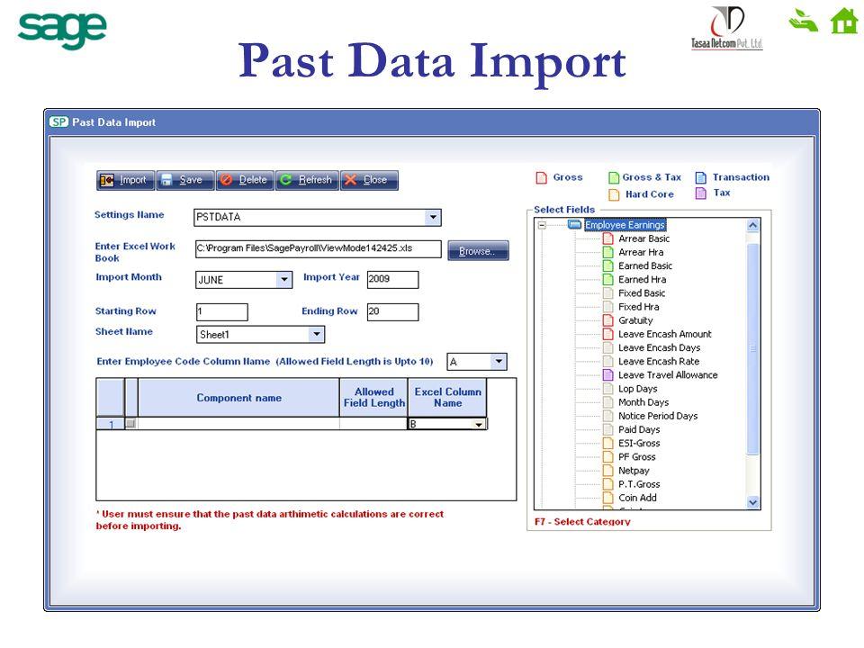 Past Data Import
