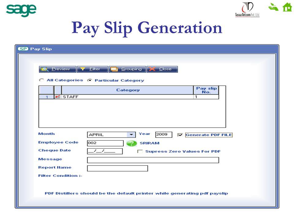 Pay Slip Generation