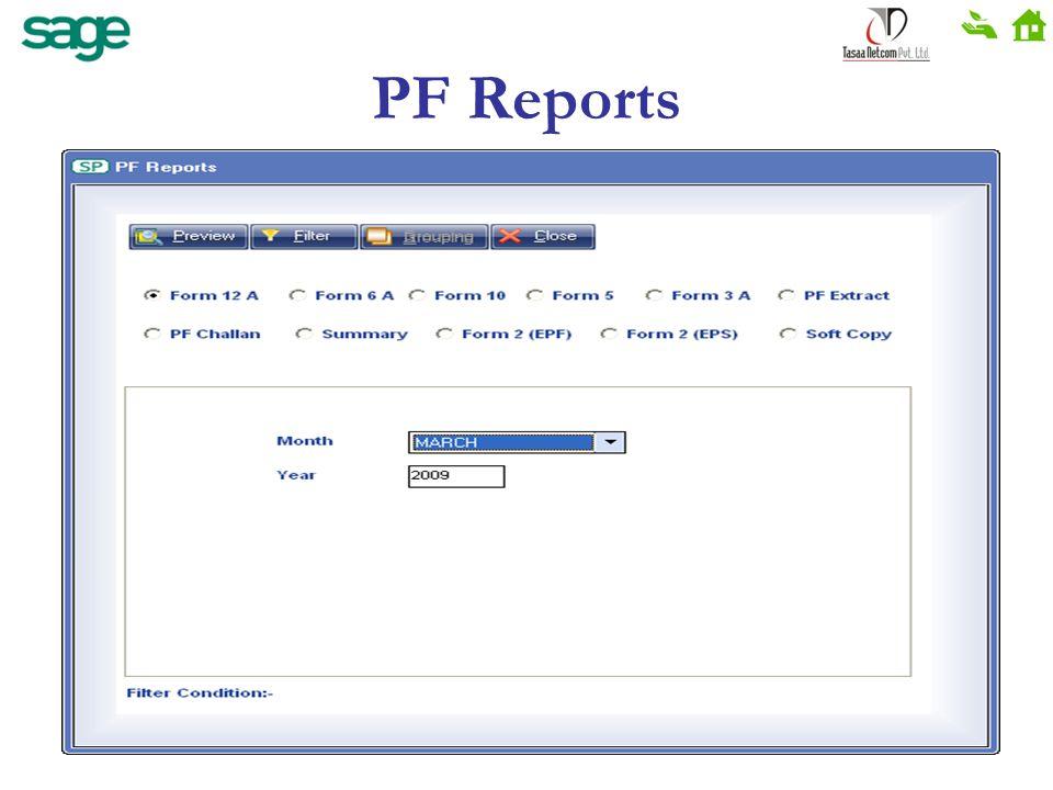 PF Reports