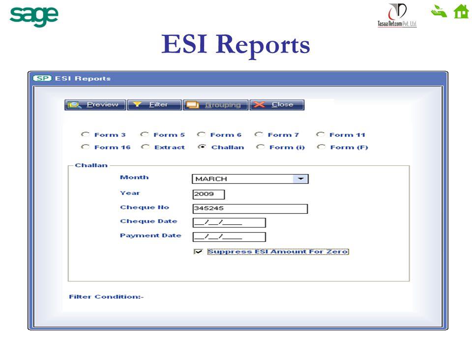 ESI Reports