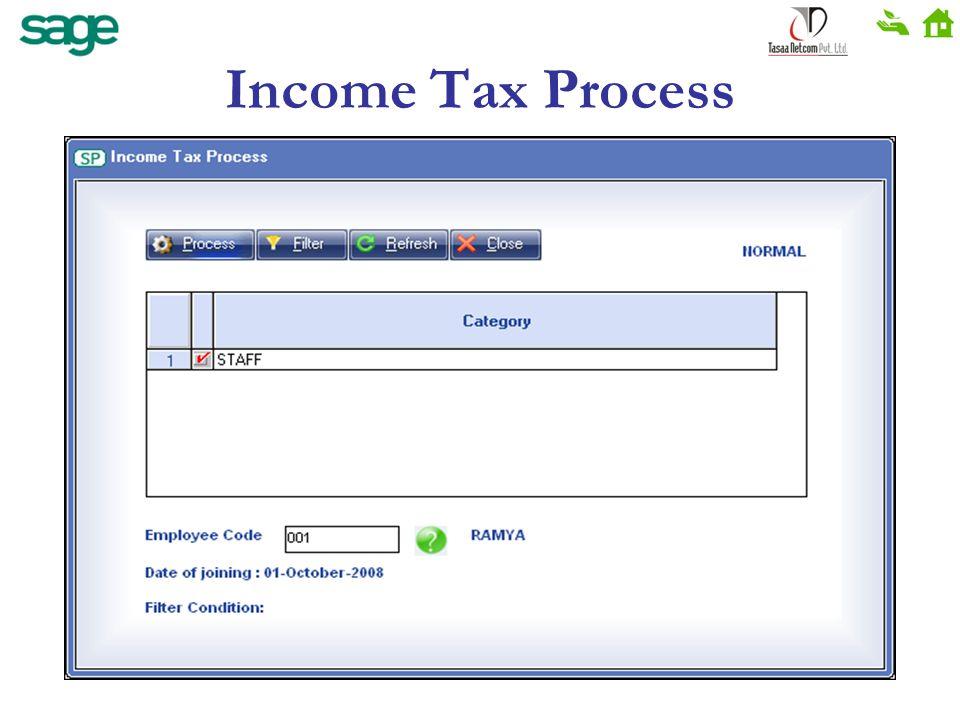 Income Tax Process