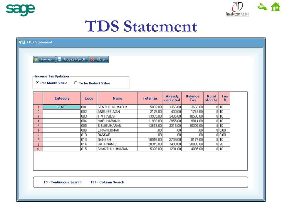 TDS Statement