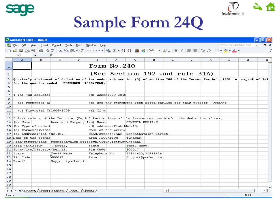 Sample Form 24Q