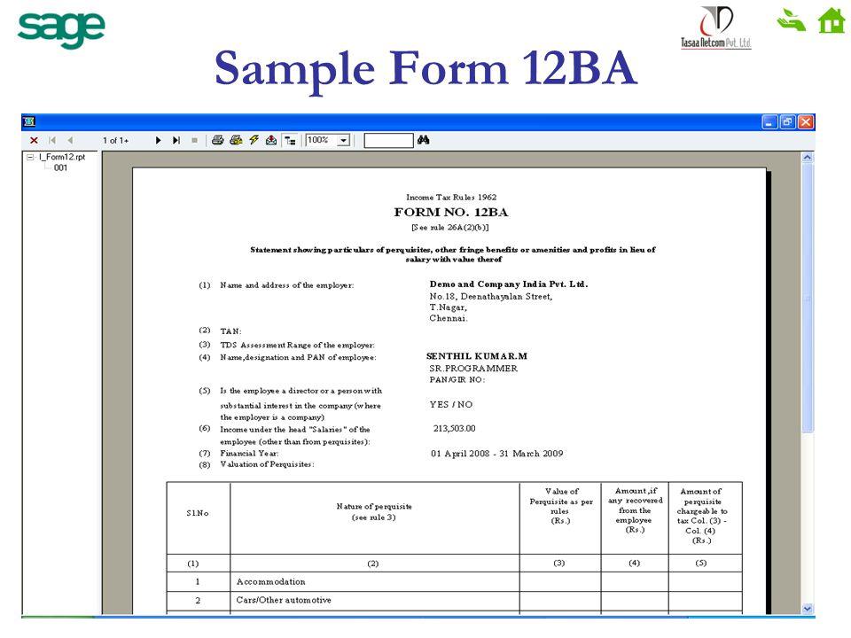 Sample Form 12BA