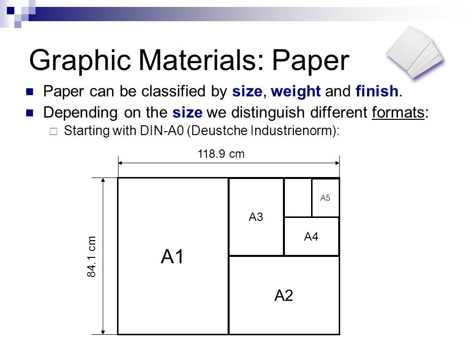 Graphic Materials: Paper Depending on the weight the paper is thicker or thinner.