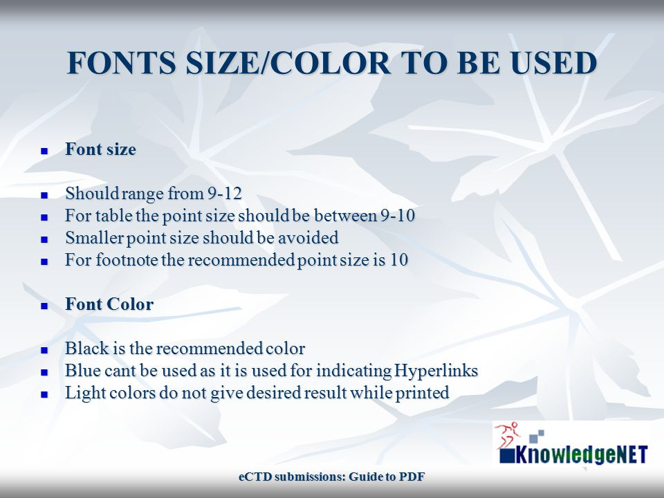 SOLUTION TO QUOTED PROBLEM Test the font size and the try for different color, and print each option, compare and decide.
