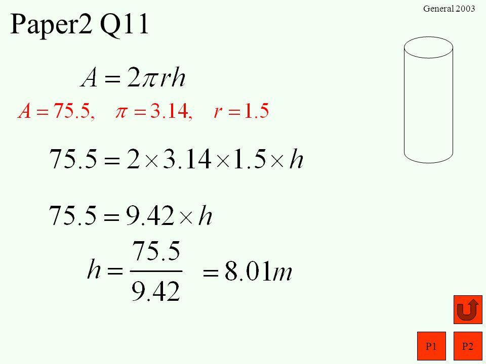 P1P2 General 2003 Paper2 Q10 (a) (b)