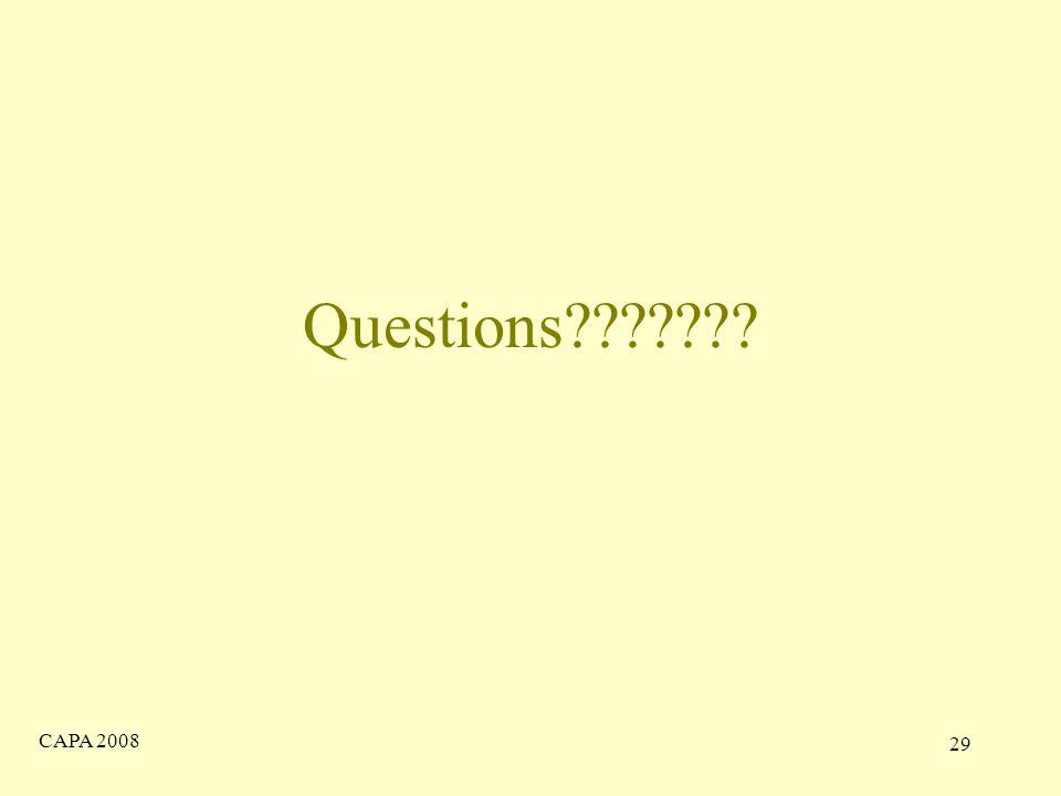 CAPA 2008 29 Questions
