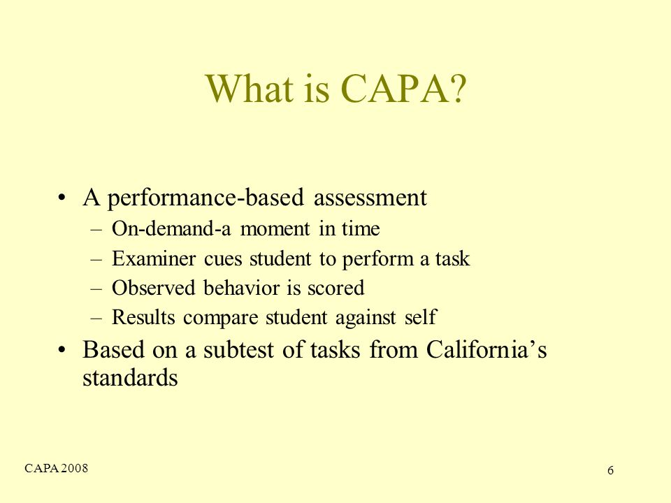 CAPA What is CAPA.