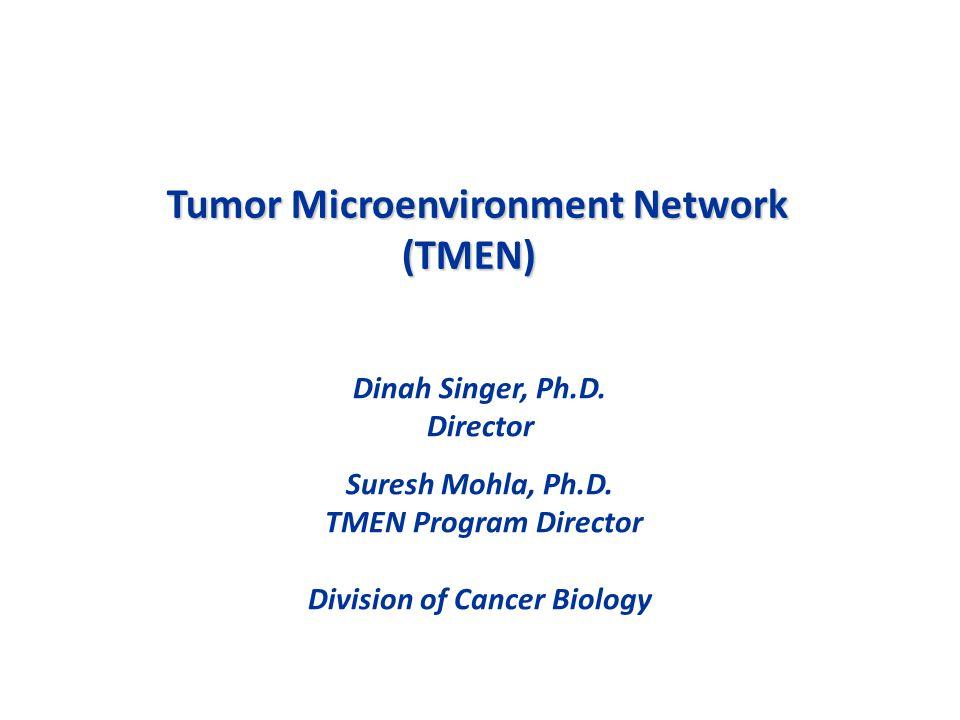 Tumor Microenvironment Network (TMEN) Dinah Singer, Ph.D.