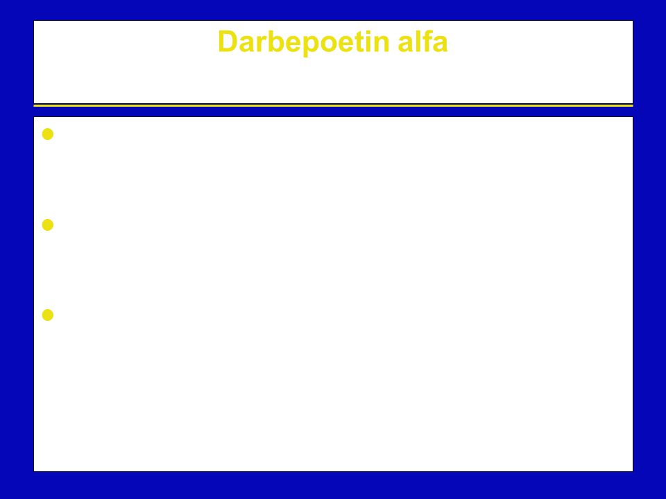 Darbepoetin alfa Darbepoetin alfa is a biochemically distinct recombinant erythropoietic protein that stimulates the production of red blood cells The