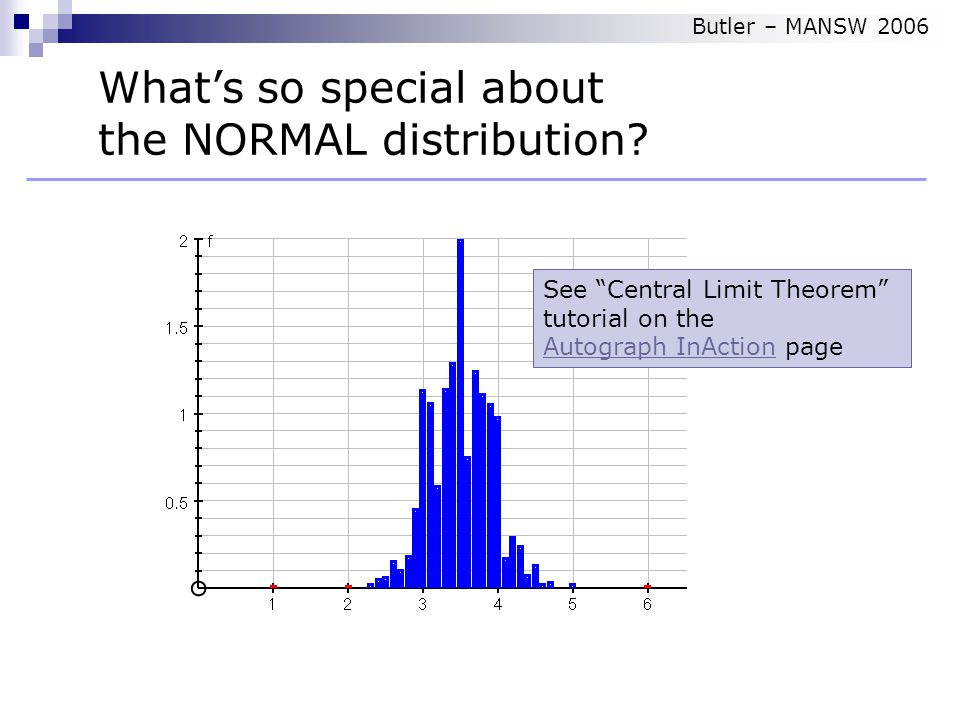 What's so special about the NORMAL distribution.