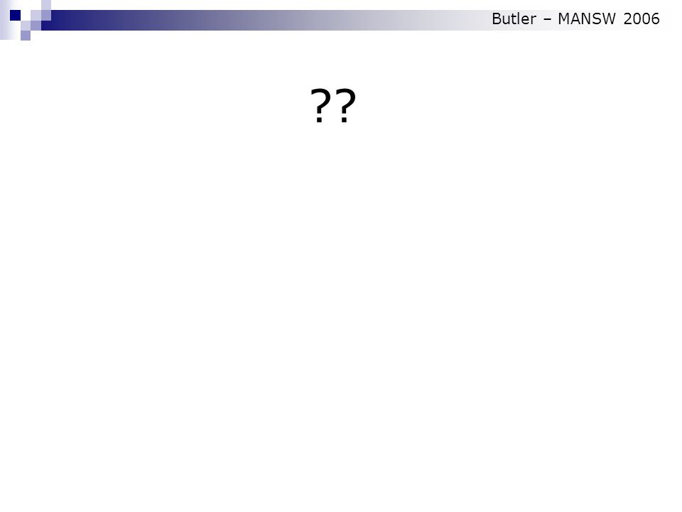 Butler – MANSW 2006