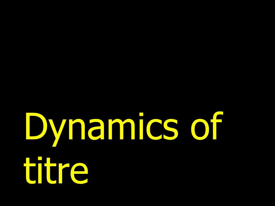 Dynamics of titre