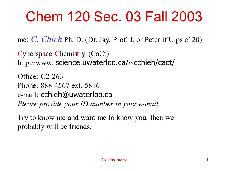 Stoichiometry22 Reaction Stoichiometry Stoichiometry : quantitative relationship among reactants and products in a balanced reaction equation.