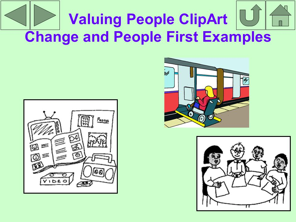 Valuing People ClipArt Change and People First Examples