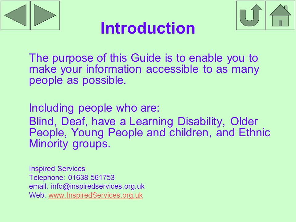 Sensory Communication BSL (British Sign Language) This may be the first language for service users within this group.