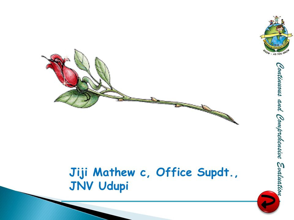 Jiji Mathew c, Office Supdt., JNV Udupi Continuous and Comprehensive Evaluation