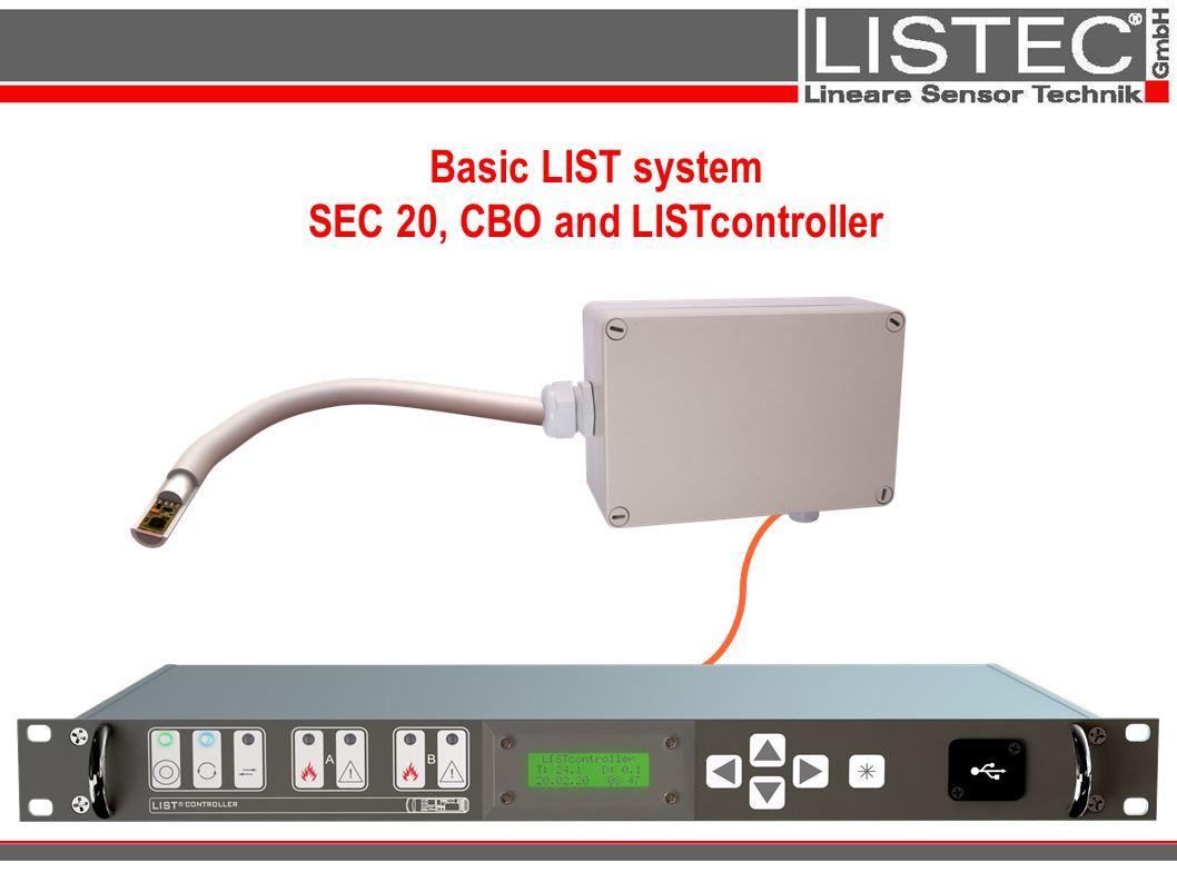 Basic LIST system SEC 20, CBO and LISTcontroller