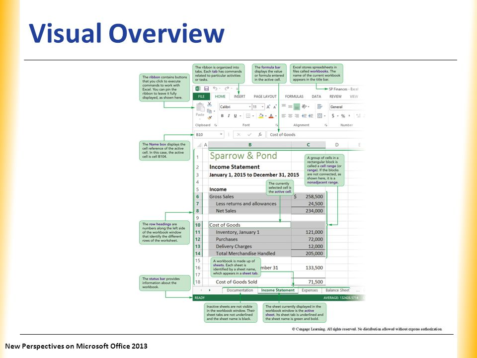 XP Visual Overview New Perspectives on Microsoft Office 2013